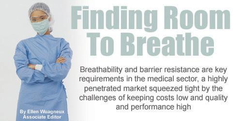 47728c20a9e60 أنان قطاع الرعاية الصحية لصناعة منسوجات، لا تزال الجهود R   D تركز على  تحسين التهوية، راحة مرتديها وزيادة مقاومة حاجز لمجموعة متنوعة من التطبيقات  في كل من ...